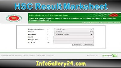 HSC Result Full Marksheet