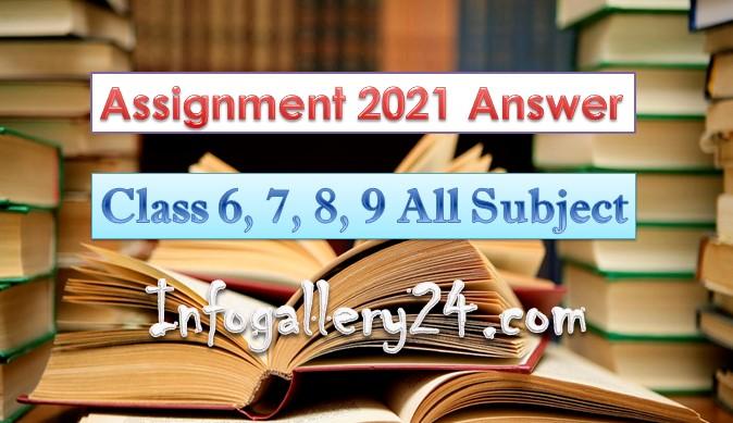 Assignment 2021 Class 6 7 8 9